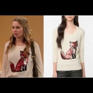 Sequined Fox sweater as seen on Good Luck Charlie
